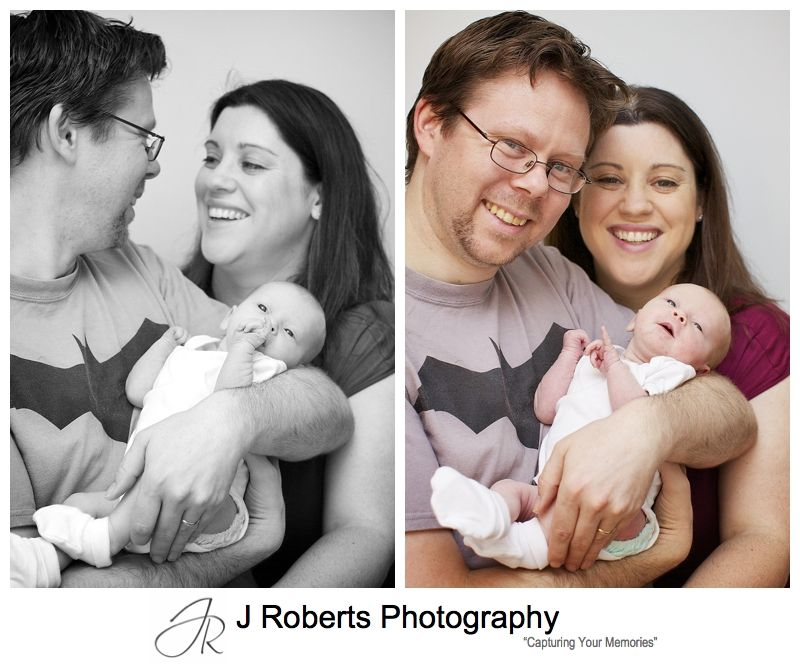 New parents with their baby girl - sydney baby portrait photography